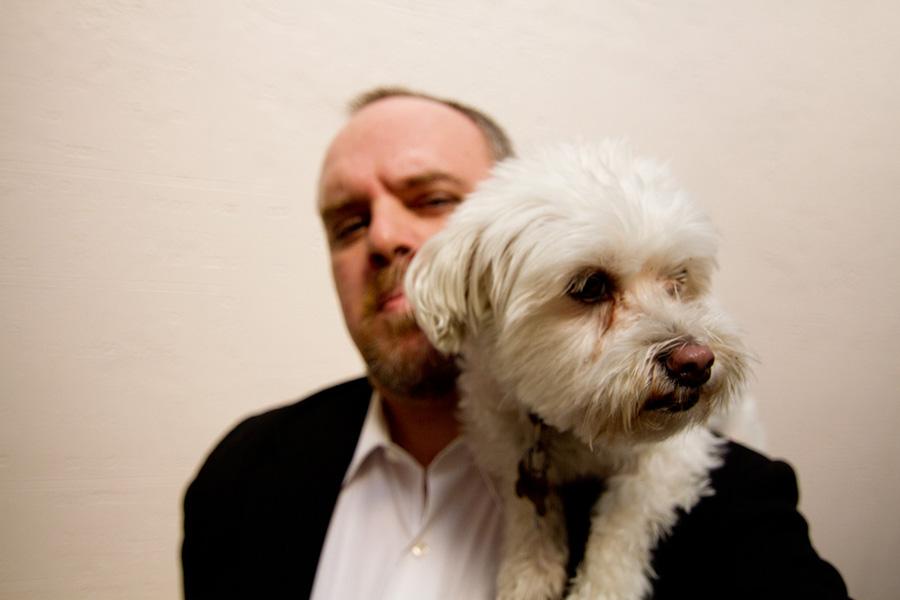Photographer Casey Fatchett and his dog, Tyler