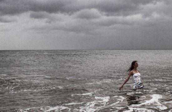 Trash the Dress Sample in the Ocean