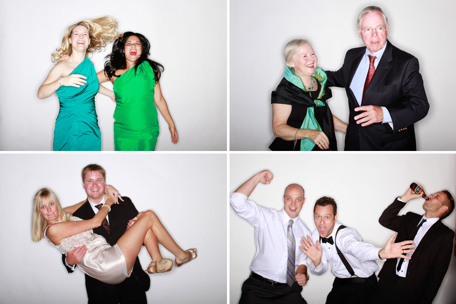 wedding reception photo booth images