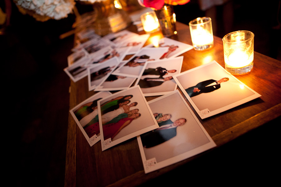 photobooth prints from wedding reception
