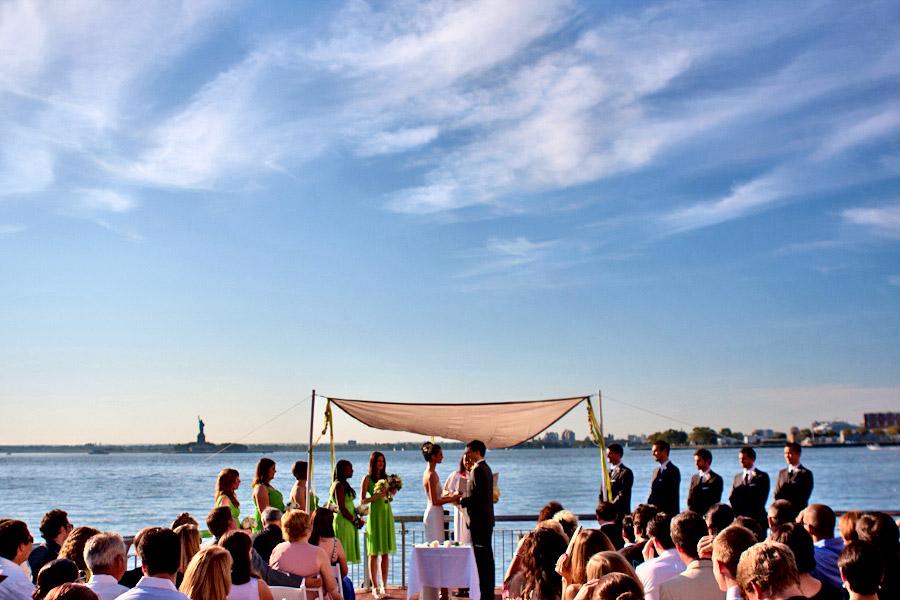 wedding ceremony brooklyn waterfront