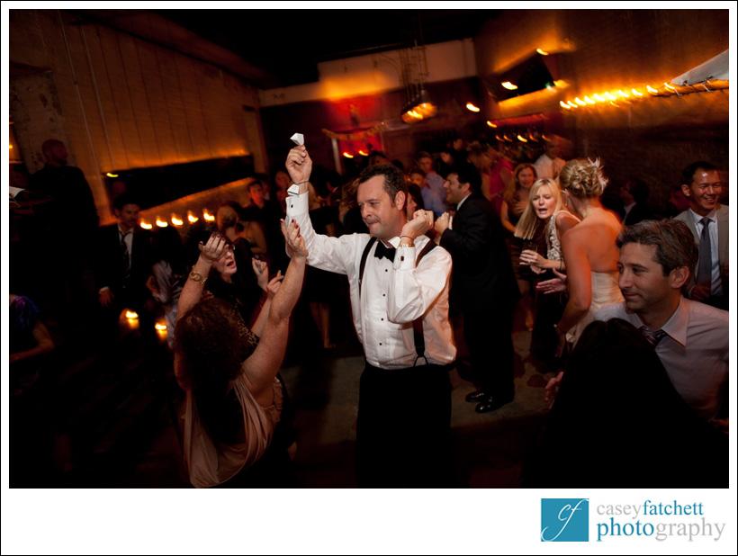 groom dancing public restaurant wedding reception nyc manhattan