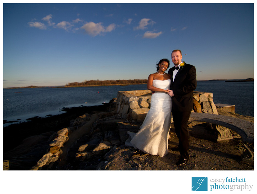 bride and groom at beckwith pointe