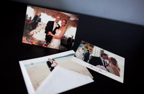 wedding event photo thank you card