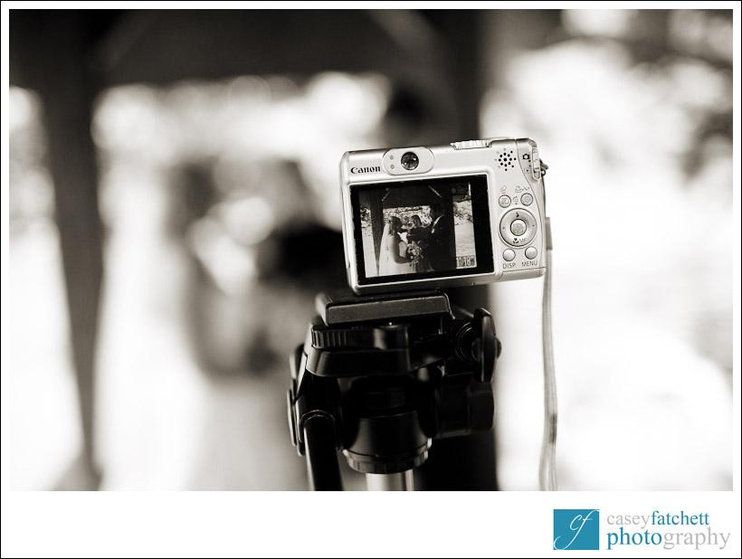 camera recording wedding
