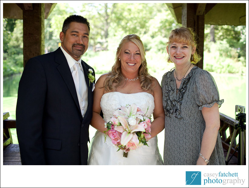 Reverend Annie Lawrence with couple