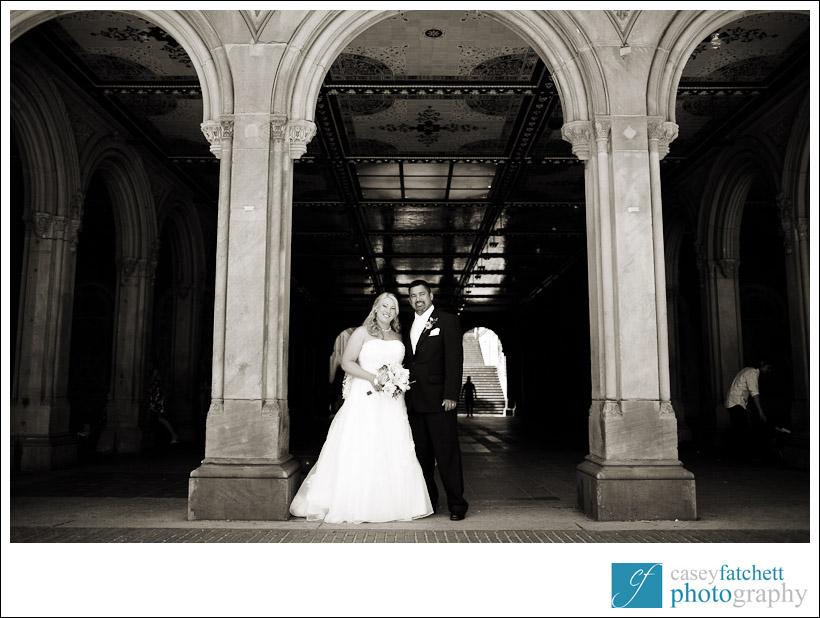 Bethesda Terrace wedding portrait