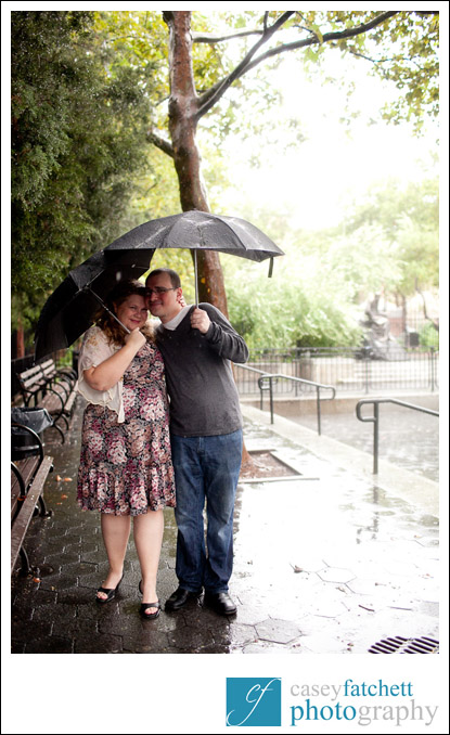 rainy day engagement shoot new york city