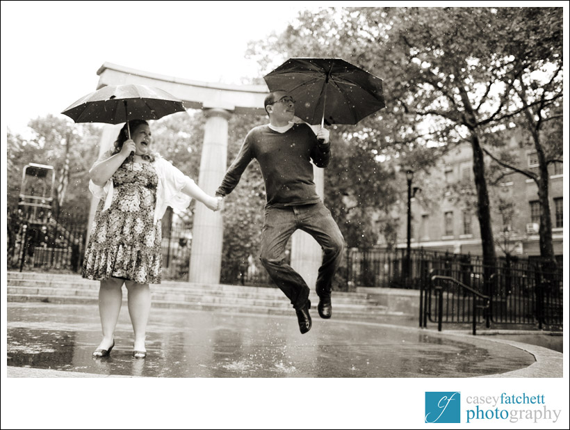 rainy day engagement photos new york city