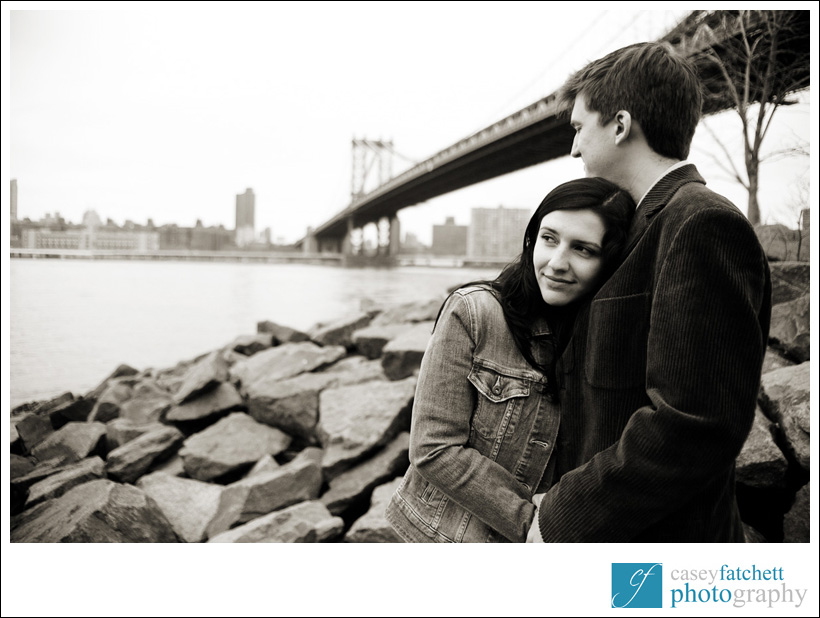 Fulton Landing engagement photos brooklyn