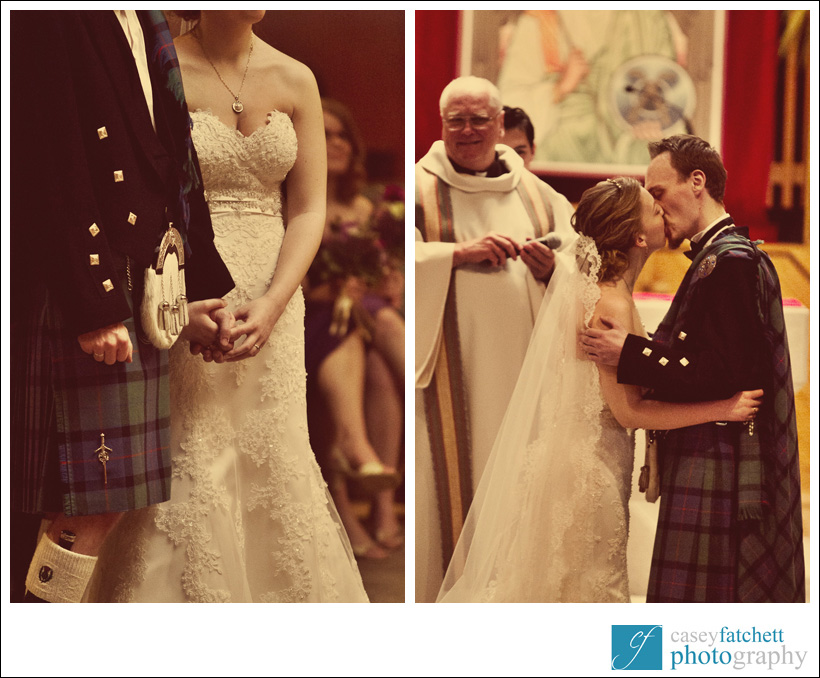 vintage kilt wedding