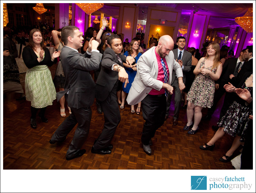 dance off at wedding