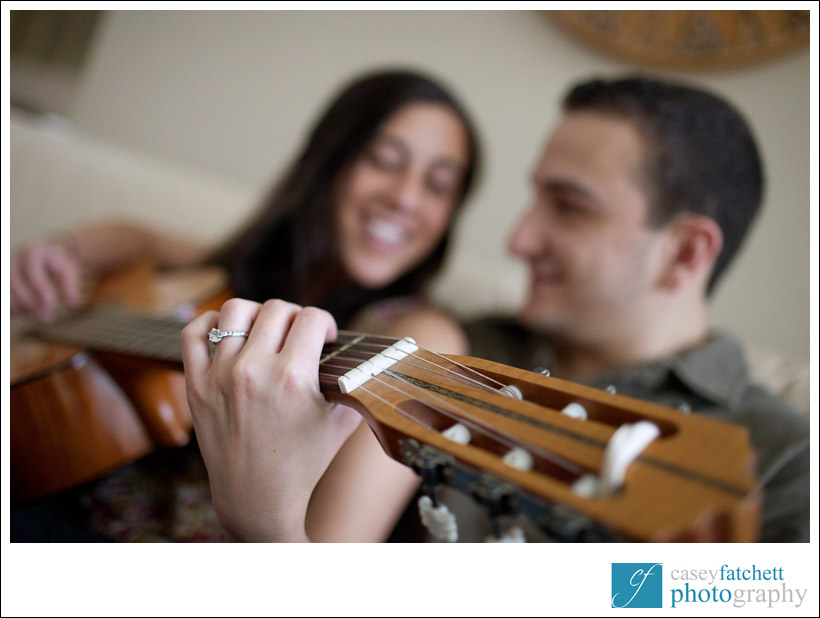 engagement shoot guitar