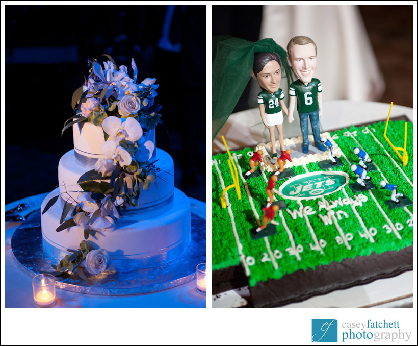 wedding cake groom's cake new york city jets theme