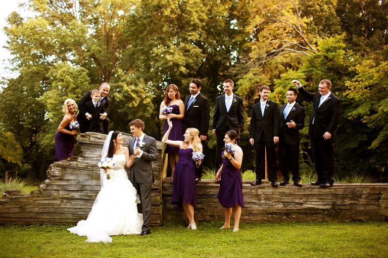 wedding day group portraits