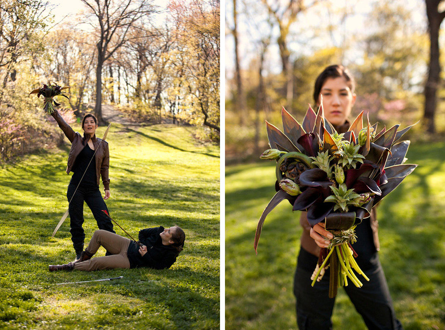Hunger Games wedding bouquet