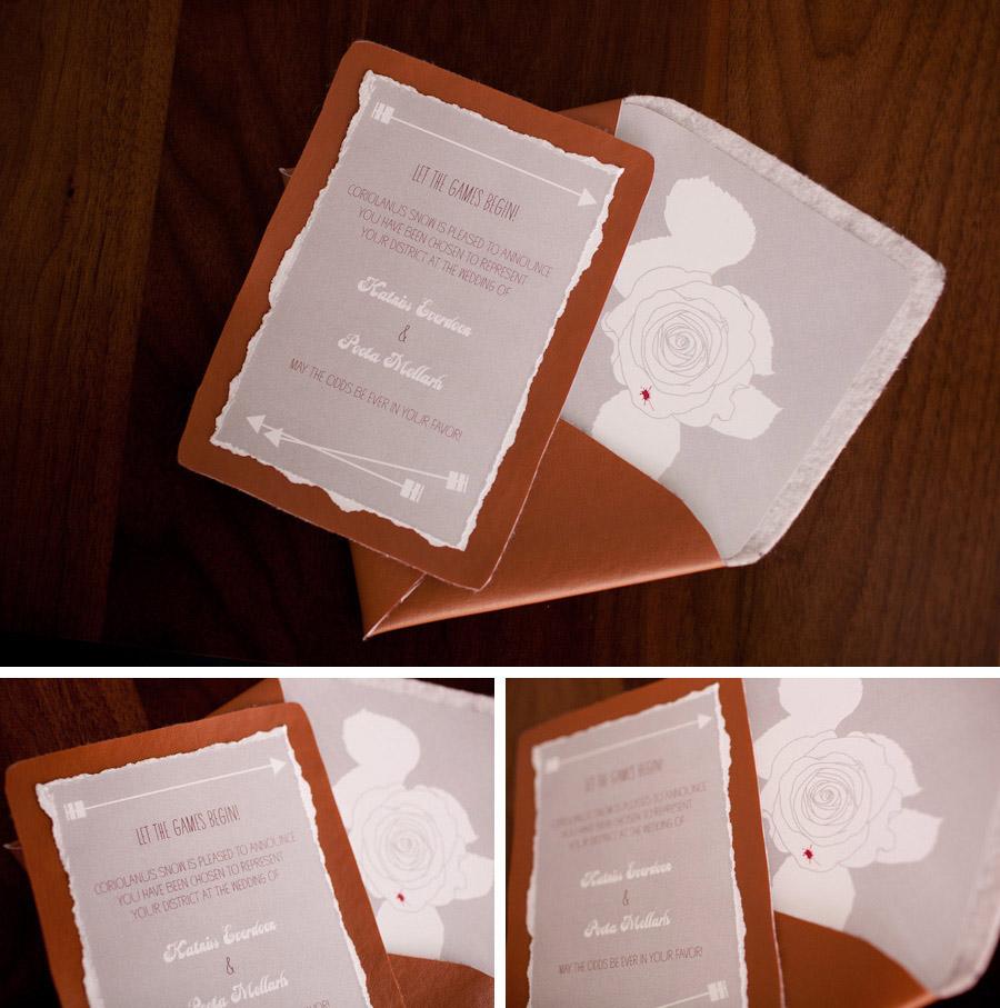 Hunger Games wedding invitation