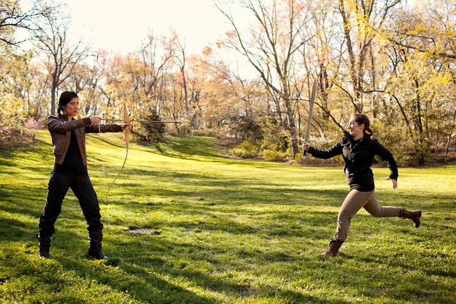 Hunger Games wedding battle