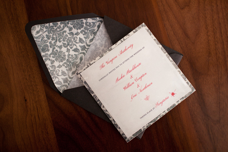 True Blood wedding invitation