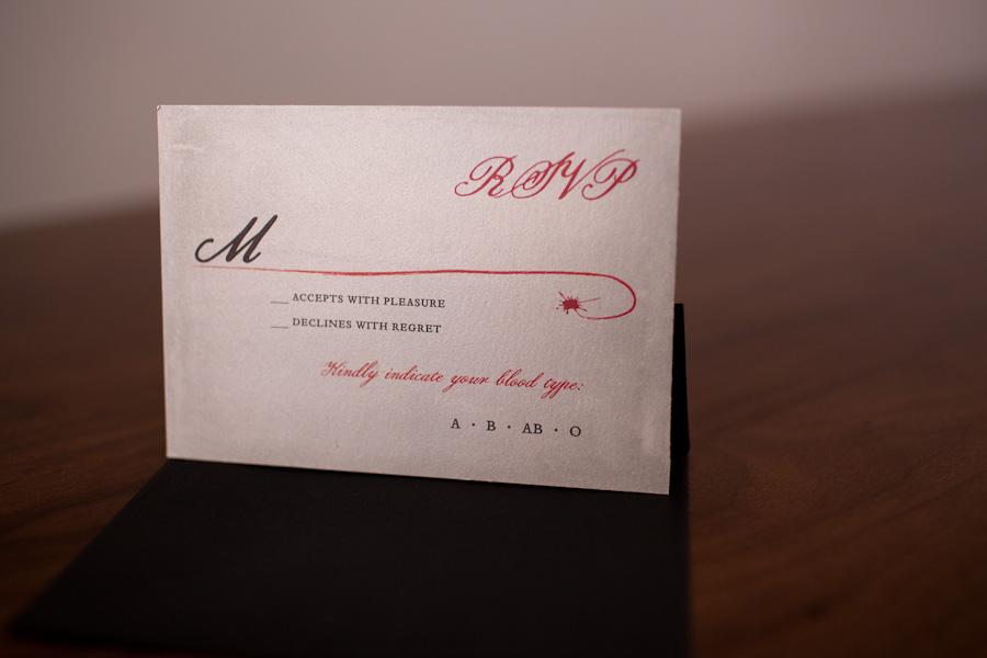 True Blood wedding invitation