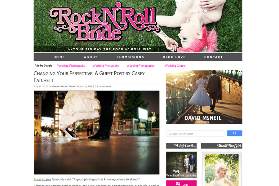 Guest Wedding Photographer post on Rock 'n Roll Bride