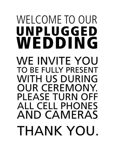 unplugged wedding ideas from Offbeat Bride