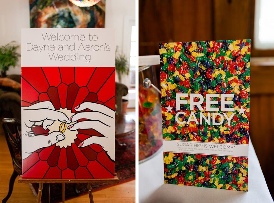Dayna Aaron DIY Lichtenstein Polka Dot Pop Art Comic Book Wedding