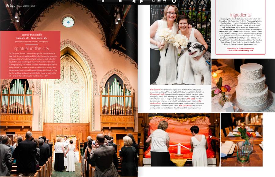Real Same Sex Wedding by Casey Fatchett Photography featured in The Knot