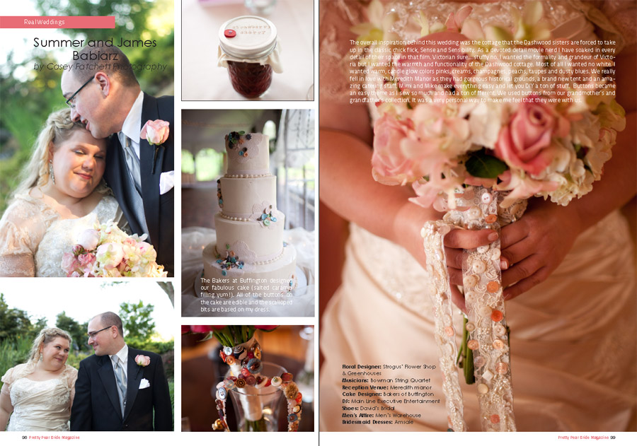 Summer and James - DIY button themed wedding