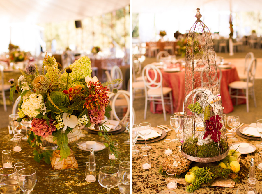 rustic elegance steampunk themed wedding centerpieces