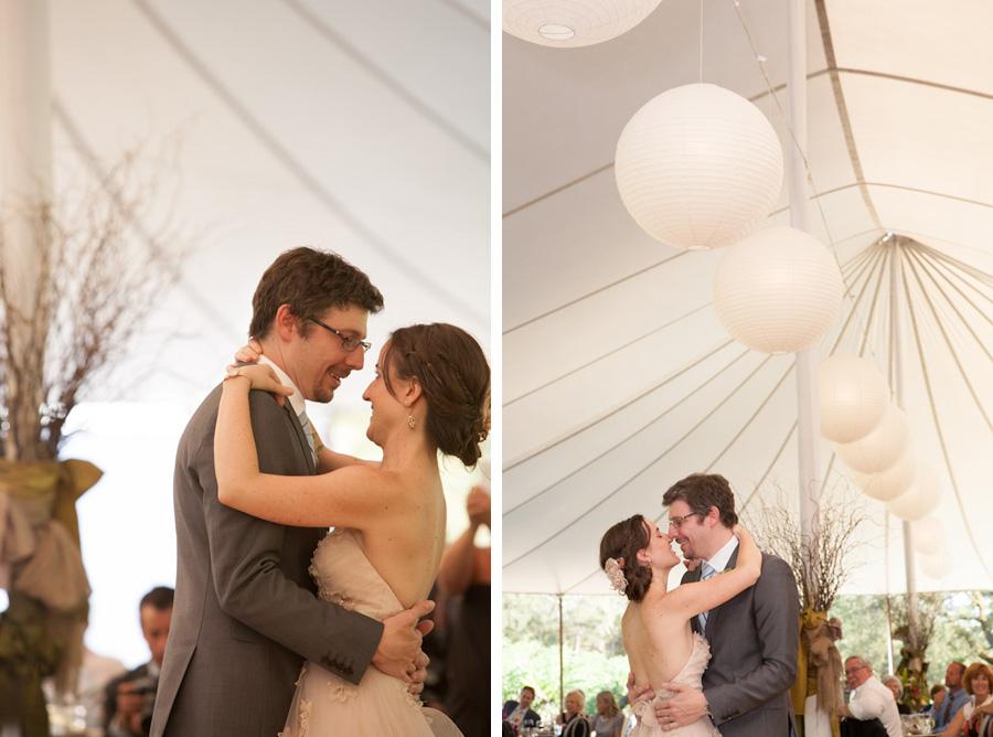 bride and groom first dance california destination wedding