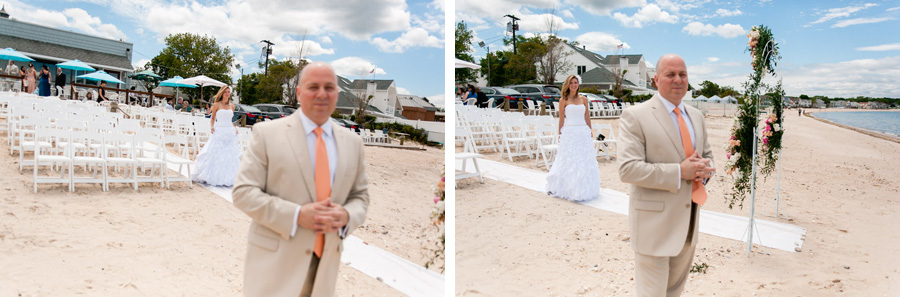 Long Island Beach Wedding I Love Phils Reaction To The First Look