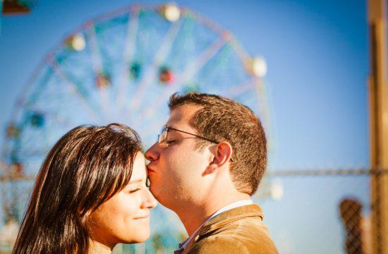 Brooklyn Coney Island engagement photos Wonder Wheel