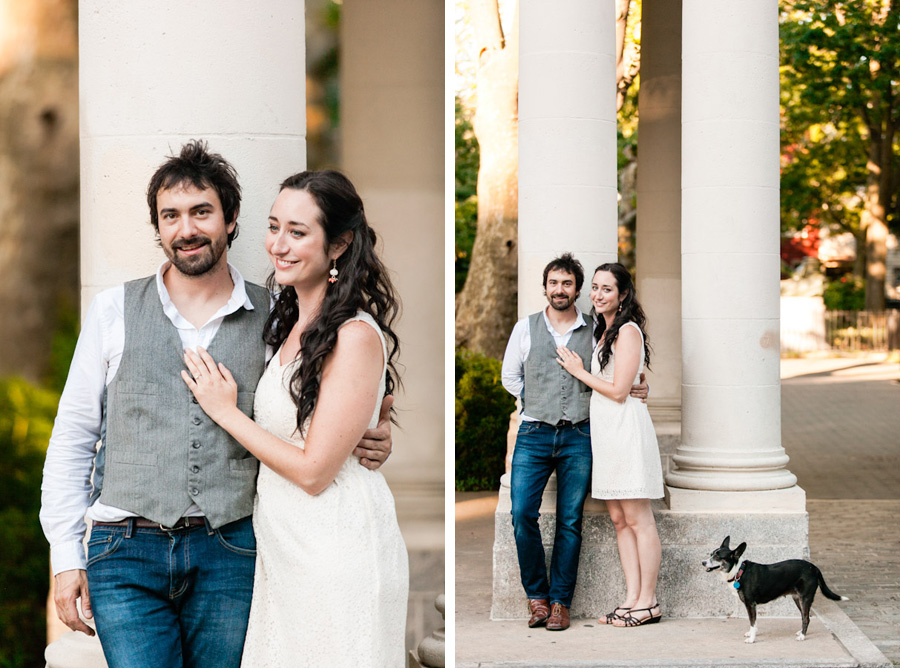 new york city brooklyn engagement photo session with dog and piano by casey fatchett photography