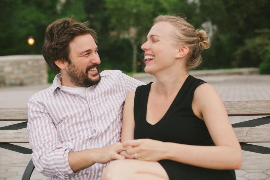 NYC engagement photos at Carl Schurz Park by Casey Fatchett