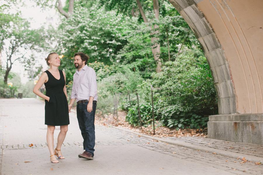 NYC engagement photos at Carl Schurz Park by Casey Fatchett