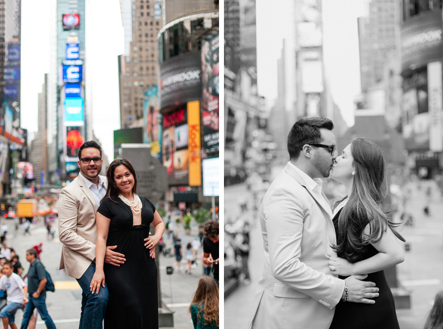 Times Square NYC engagement photo session photographed by Casey Fatchett