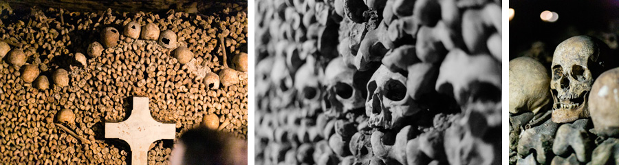 Paris catacombs by Casey Fatchett