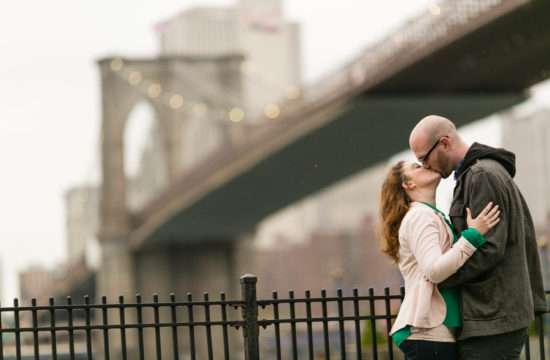 Brooklyn Bridge Engagement Photos by Casey Fatchett