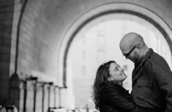 Brooklyn Bridge Engagement Photos by Casey Fatchett