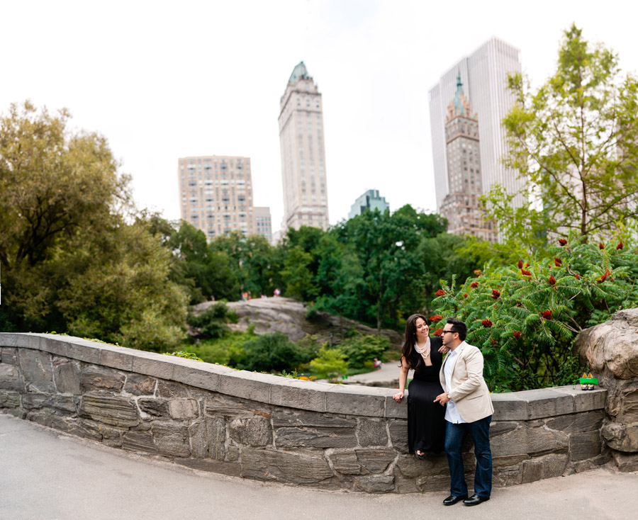 Central Park engagement photo session photographed by Casey Fatchett
