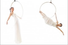 bridal fashion aerialists