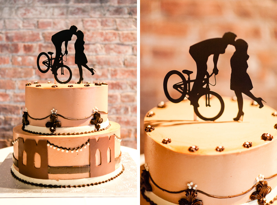 Brooklyn, New York themed wedding cake by Casey Fatchett Photography
