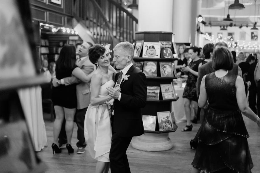 NYC bookstore wedding by Casey Fatchett