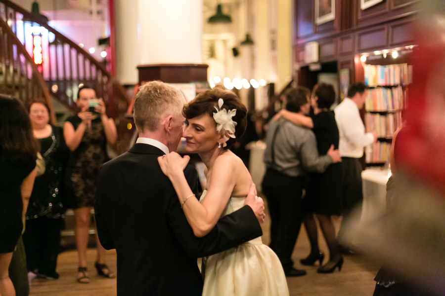 New York City Bookstore wedding by Casey Fatchett