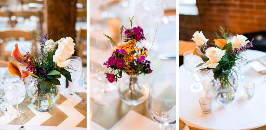 DIY wedding centerpieces photo by Casey Fatchett