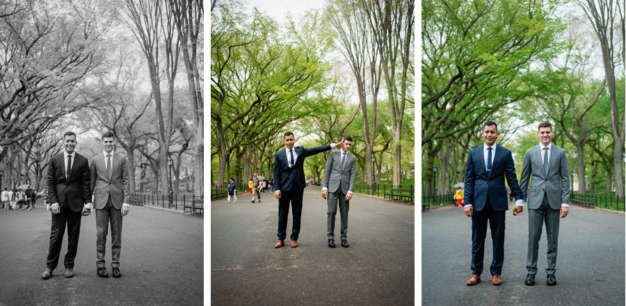 Central Park same sex wedding by Casey Fatchett - www.fatchett.com