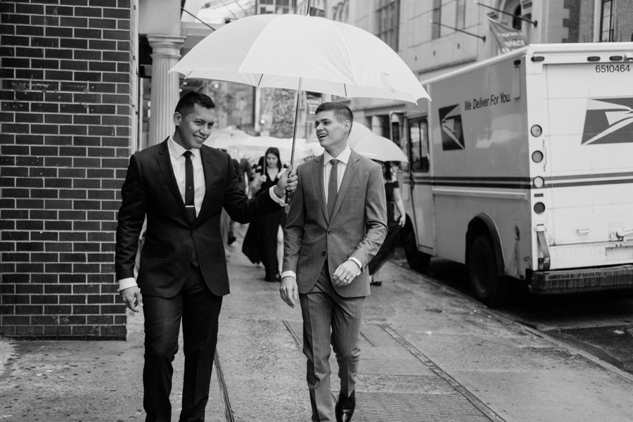 Rainy day same sex wedding by Casey Fatchett - www.fatchett.com