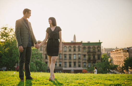 Brooklyn engagement session photographed by Casey Fatchett