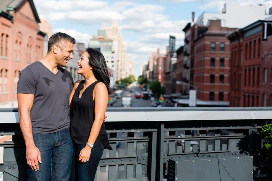 New York City Highline Park Engagement Session - photo by Casey Fatchett - www.fatchett.com